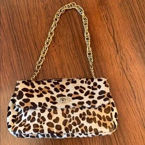 Bloomingdales Leopard print Hyde evening bag